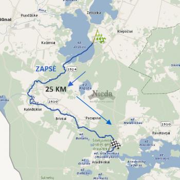 Zapsės upės maršrutas